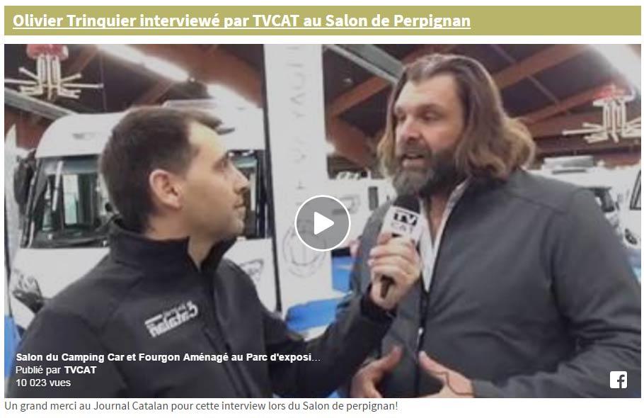 Olivier Trinquier, directeur de TPL interviewé par Jean Michel Martinez du Journal Catalan sur TV CAT
